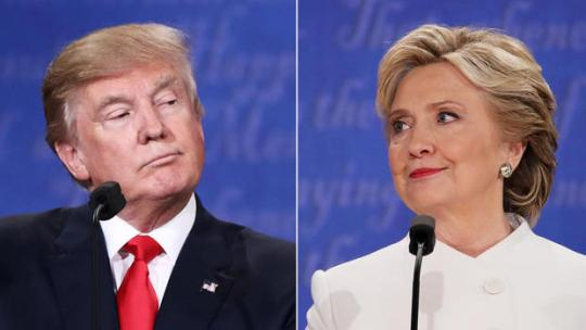 Donald Trump and Hillary Clinton at the third presidential debate, Oct. 19, 2016, in Las Vegas. PAUL J. RICHARDS/AFP/GETTY IMAGES
